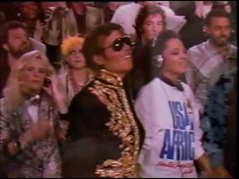 We Are The World - Michael Jackson, Tina Turner, Stevie Wonder, Diana Ross, Lionel Richie and Ray Charles.mpg