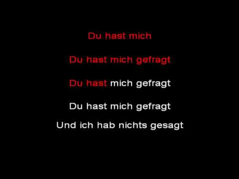 Rammstein - Du Hast (instrumental with lyrics)