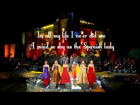 Celtic Woman - Spanish Lady (Live at Slane Castle) with lyrics on screen